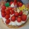 クリスマスケーキは手作りで大満足~。