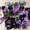 七五三髪飾り(つまみ細工) 紫色で作られてた髪飾りです。シックで大人っぽいイメージが特徴です。