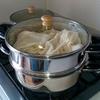 玄米餅米で赤飯