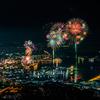 【長崎県】 弓張岳展望台からの佐世保夜景とさせぼシーサイドフェスティバルの花火