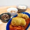 今日の夕食 サボイキャベツのロールキャベツ