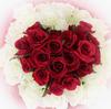 ○薇。赤と白。