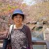 背景は水門川の桜
