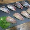 アジとムツの握り寿司の作り方〜ダイソーのスレートプレートが見栄えを底上げする件〜