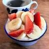 豆乳ヨーグルトと穀物コーヒーで植物系の朝