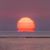 だるま太陽:富山でも海からの日の出