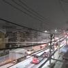 関東平野に雪が降る~