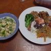 幸運な病のレシピ( 2145 )夜 :バラ肉と鳥のオイルパン焼き、汁