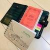 システム手帳とスケッチブックの組み合わせ。ダイソーのスケッチブックを持ち歩いてみよう。
