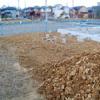 工事37日目:庭整地・車庫部分掘削