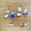 プラバン|アクリル絵の具マーブリングとミニ折り紙で簡単アクセサリー!