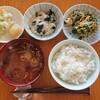 長芋とろろご飯とニラ玉の朝ごはん