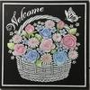 ピンクと水色のバラ*チョークアート
