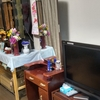 テレビと仏壇の高さを変えてみた・・・