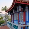 台南  夕方の赤崁楼です