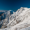 初雪の白馬岳