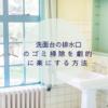 洗面台の排水口掃除を劇的に楽にする方法
