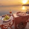 モルディブのサンセットタイム イタリアンディナー@Compass Pool bar Milaidhoo