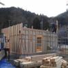 岐阜県白川町で木造仮設モデル住宅を見学