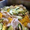 ゆで鶏とズッキーニの新生姜の甘酢和え