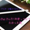 ブロガーがiPad Proを1年使ってみてわかった事。PCの代わりになる?生産性が上がると感じた使い道を解説します。