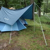 雨中キャンプ