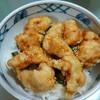 今日の晩飯 鶏天丼を作ってみた