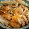 ぷりぷりの海老とご飯のマッチング - 天康
