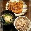 水餃子と豚ロースステーキ【楽メシ】