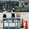 1・6年生:運動会ペア練習④ 玉入れ
