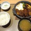 やよい軒で、かきフライの味噌煮定食を食べました