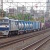 8月18日 東海道線 平塚~大磯間 いつものように貨物列車2本撮影 1097ㇾ 2079ㇾ
