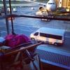 初飛行で緊張、一時帰国しました