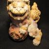 九谷焼の玉乗り獅子を買取しました