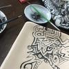 皿に絵を描く!!