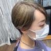 ダブルカラーで【オリーブグレージュ】ボーイッシュになりすぎないショートヘア