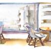 駅ビルの喫茶店
