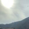昨日の太陽さん☀️と飛行機です✈️