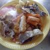 幸運な病のレシピ( 984 )朝:ニラの味噌汁、メバルの開き(干し)、牛丼の頭、目玉焼き、