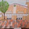 6年生:図工 わたしの大切な風景 完成・掲示