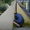 シークアウトサイドのティピーテント(1ポールテント) シマロンテントの設営・撤収・シームシーリングしてみた。