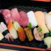 お寿司の出前をとりました
