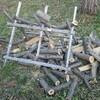 薪ストーブ始生代52 栗の木の枝のお片付け③~全部片付けて、薪棚に放り込んだ!