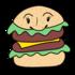 かわいいハンバーガー のイラスト