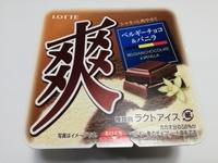 ロッテ「爽」ベルギーチョコ&バニラは一緒に食べると濃厚で美味しい。2つの味わいを重ねて食べると「もっと」美味しい。