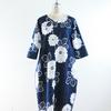 「Lサイズ祭り」絶賛開催中!浴衣地 紺 菊模様のコクーンワンピース Lサイズが出来ました!