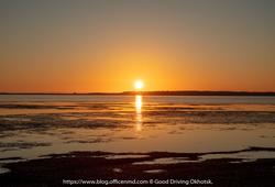 サロマ湖の朝日と佐呂間の蕎麦畑