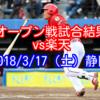 【オープン戦試合結果】vs楽天、カンポス打たれて3-5の逆転負け。2018/3/17(土)静岡