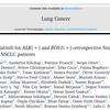 【GLASS】ALK陽性肺癌・ROS1陽性肺癌に対するロルラチニブのリアルワールドデータ