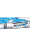ANAのA380、デザイン発表「FLYING HONU」(空飛ぶウミガメ)